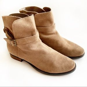 Sam Edelman Tan Suede Malone Harnessed Ankle Boot